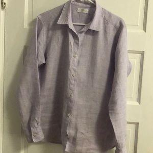 ⭐️Uniqlo lilac line shirt.⭐️